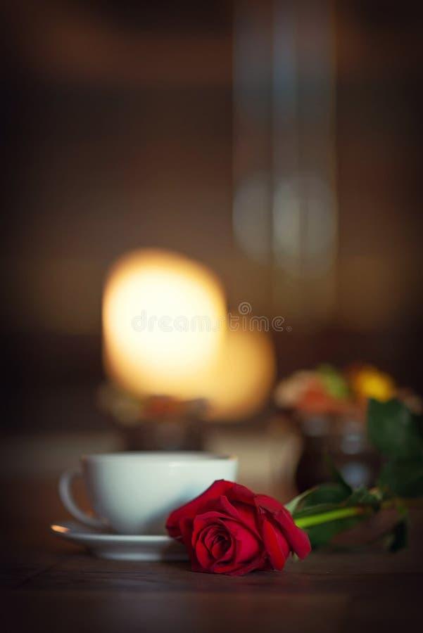 Copo do chá, atmosfera romântica fotos de stock royalty free