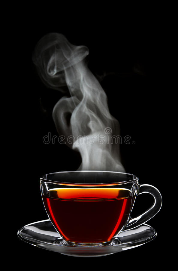 Copo do chá preto foto de stock royalty free