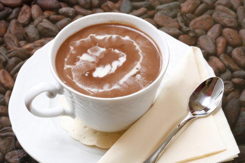 Copo do chocolate quente imagens de stock royalty free
