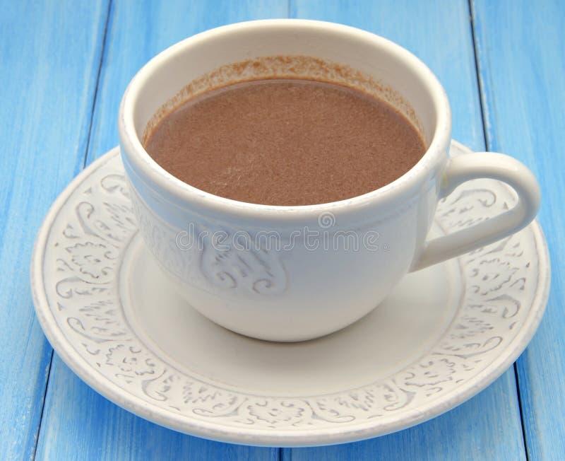 Copo do chocolate quente fotografia de stock