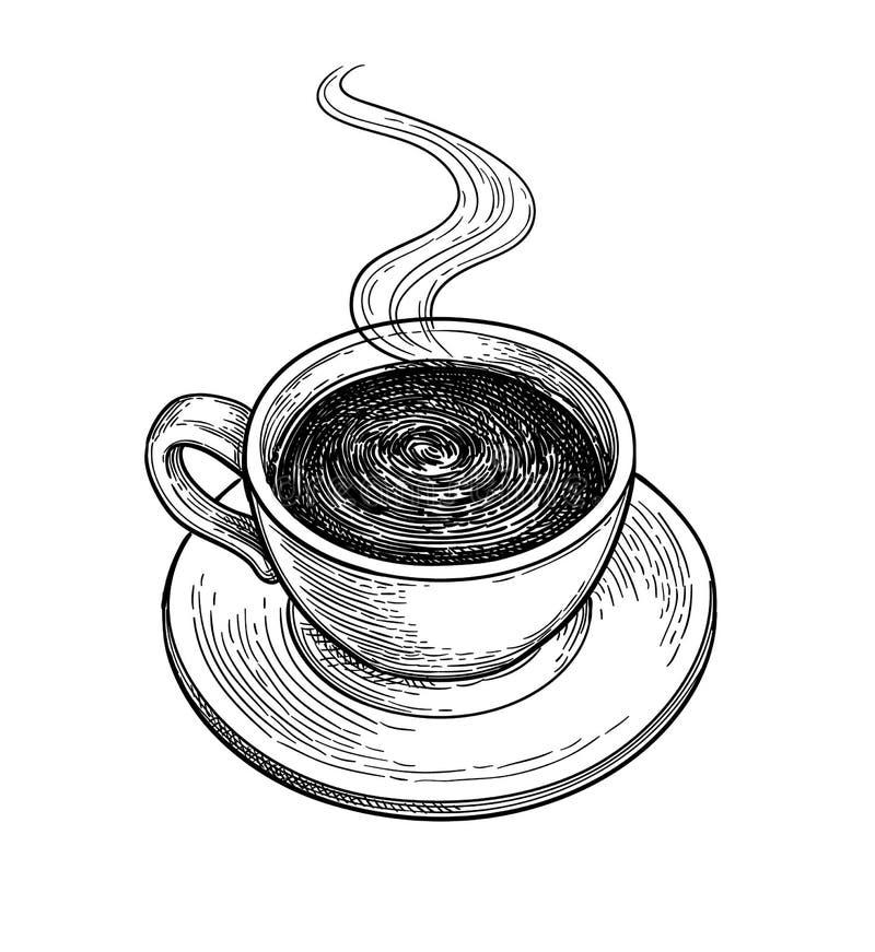 Copo do chocolate quente ou do café ilustração royalty free