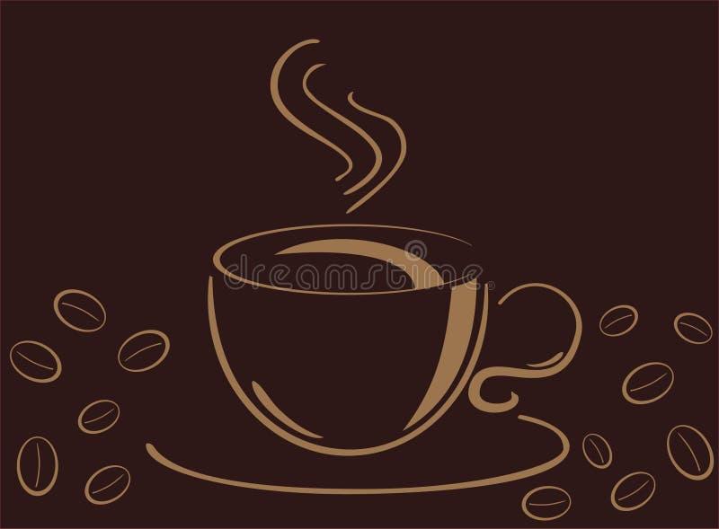 Download Copo Do Cofee, Ilustração Do Vecor Ilustração do Vetor - Ilustração de negócio, placa: 12803686