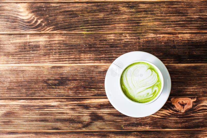 Copo do Latte de Matcha fotos de stock