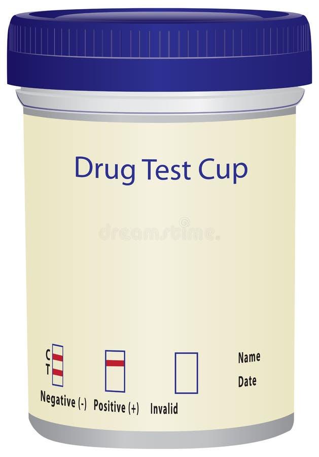 Copo do teste de droga ilustração royalty free