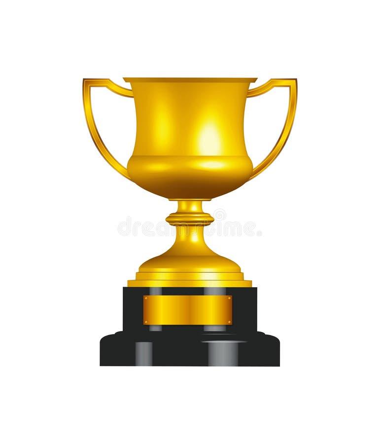 Copo do troféu do ouro ilustração royalty free