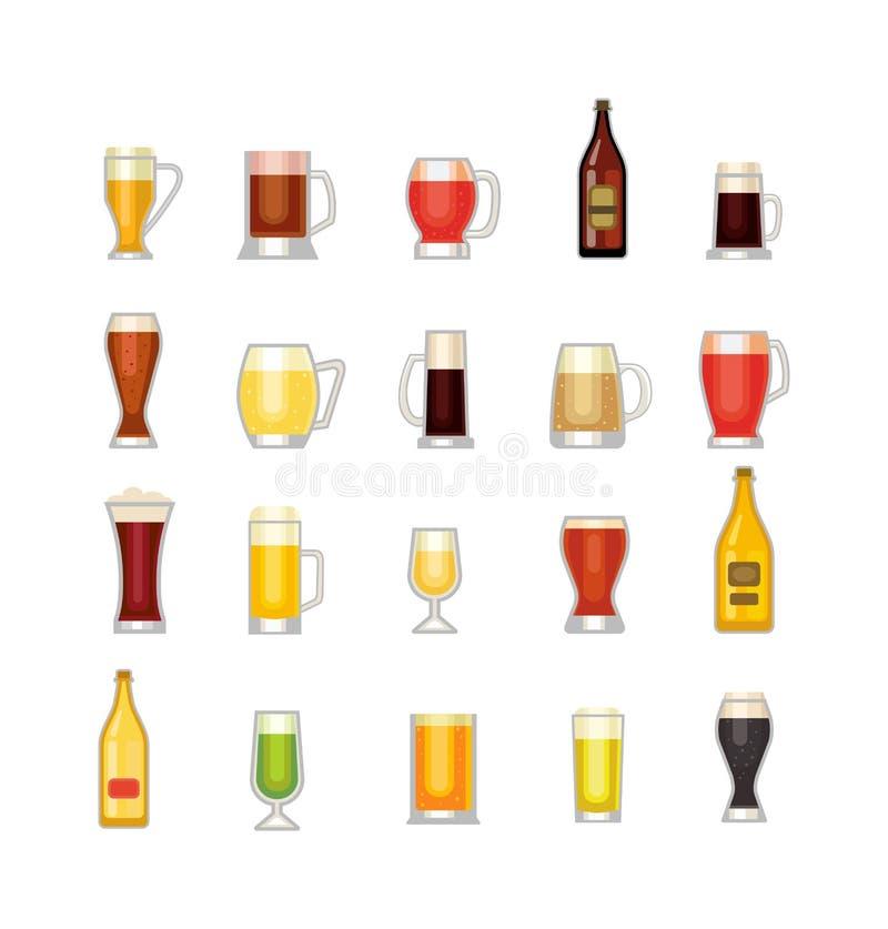 Copo do vetor da cerveja ilustração do vetor