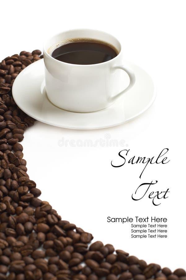 Copo e grão de café fotos de stock