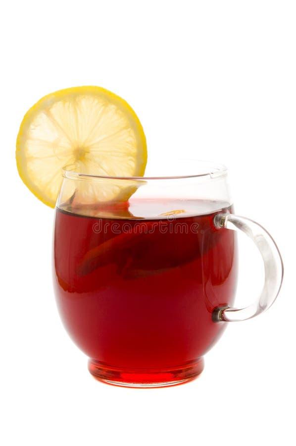 copo e limão de chá fotografia de stock