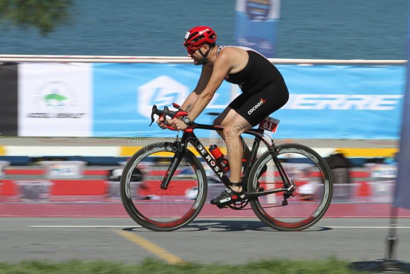 Copo europeu 2017 do Triathlon de Istambul Beylikduzu ETU imagens de stock royalty free