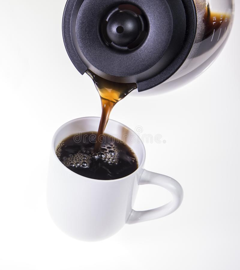 Copo fresco do café quente fotos de stock