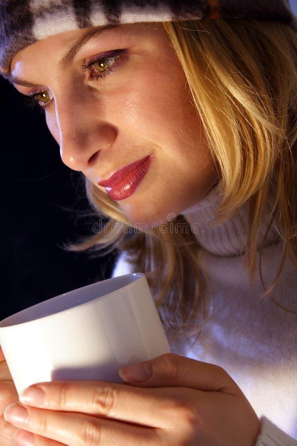 Copo morno do chá. fotografia de stock