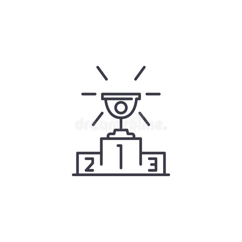 Copo para o primeiro conceito linear do ícone Copo para a primeira linha sinal do vetor, símbolo, ilustração ilustração stock