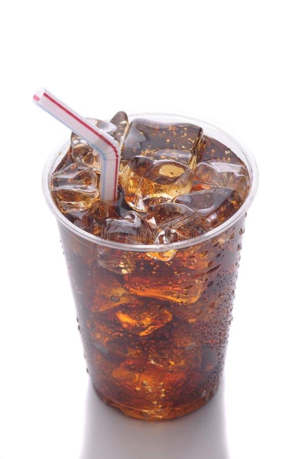 Copo plástico com soda foto de stock