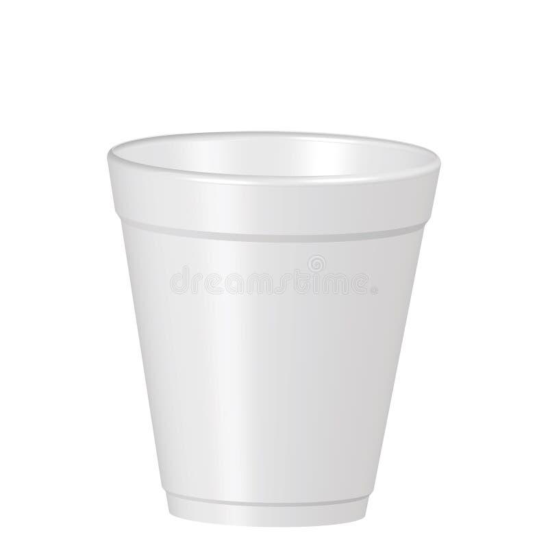 Copo plástico do coffe ilustração royalty free