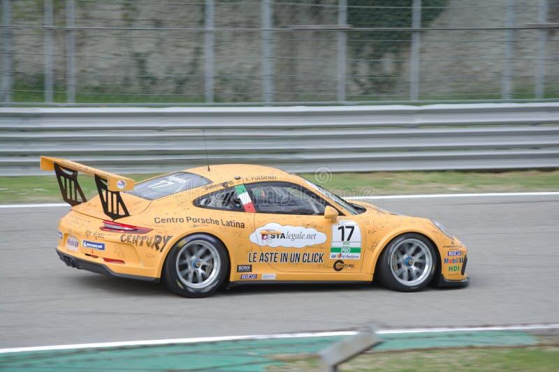 Copo Porsche 911 do RT Carrera do tsunami conduzido por Enrico Fulgenzi fotos de stock