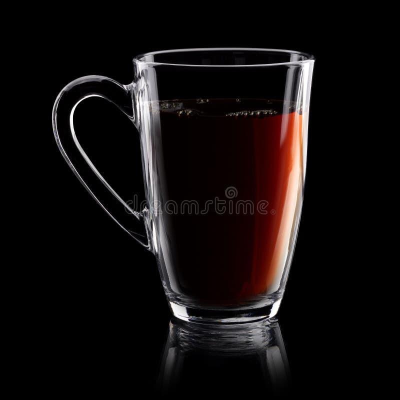 Download Copo transparente do chá imagem de stock. Imagem de preto - 65576599