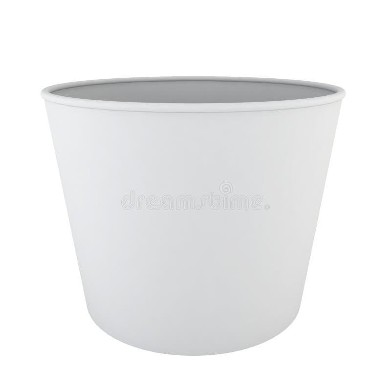 Copo vazio do gelado ilustração stock