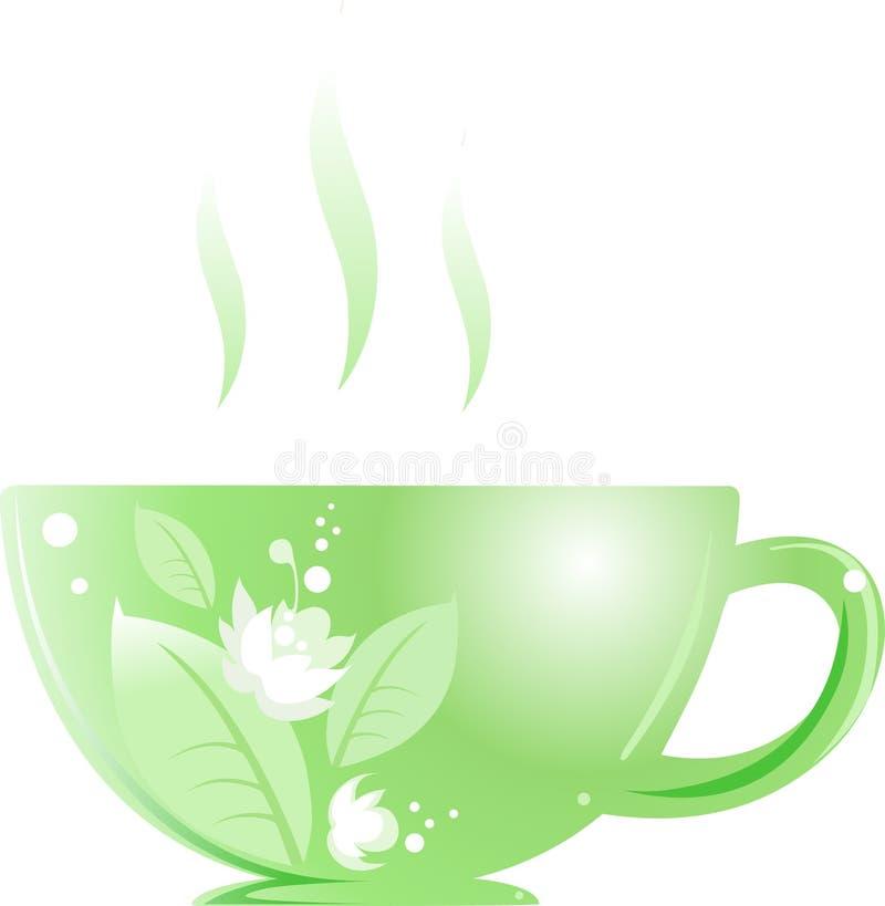 Copo verde ilustração stock