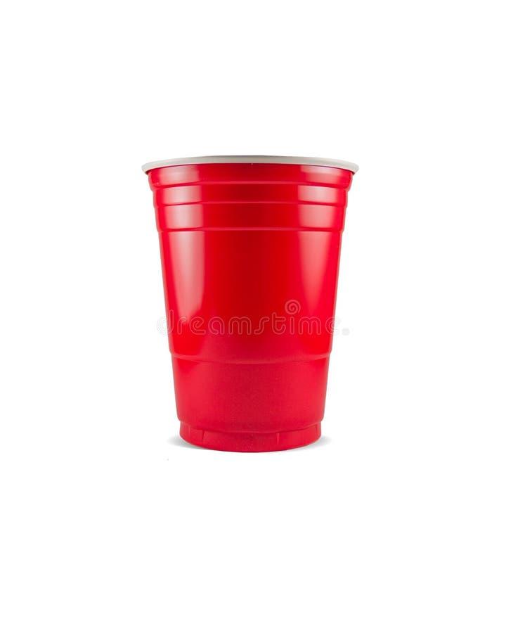 Copo vermelho foto de stock