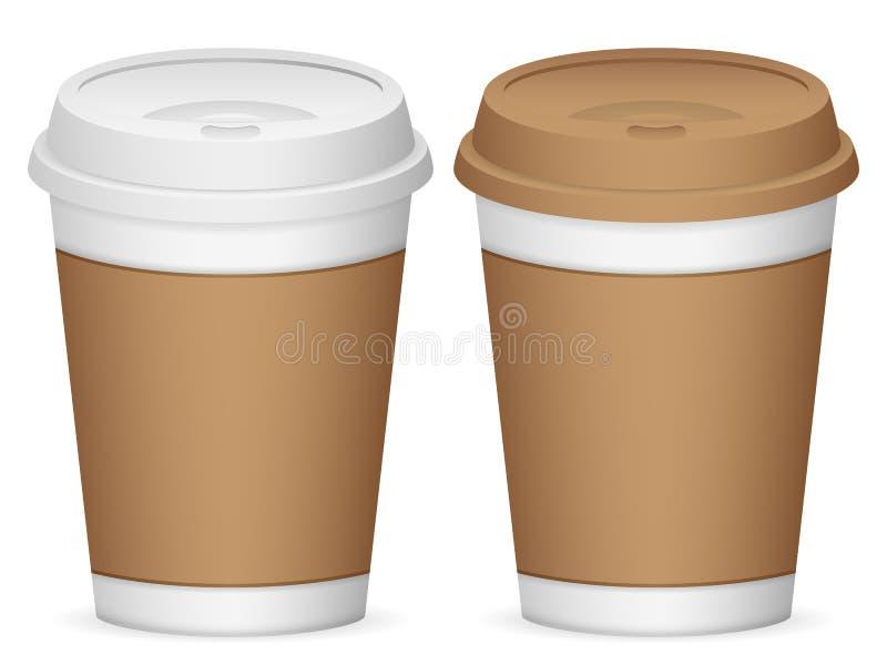 Copos de café de papel ilustração stock