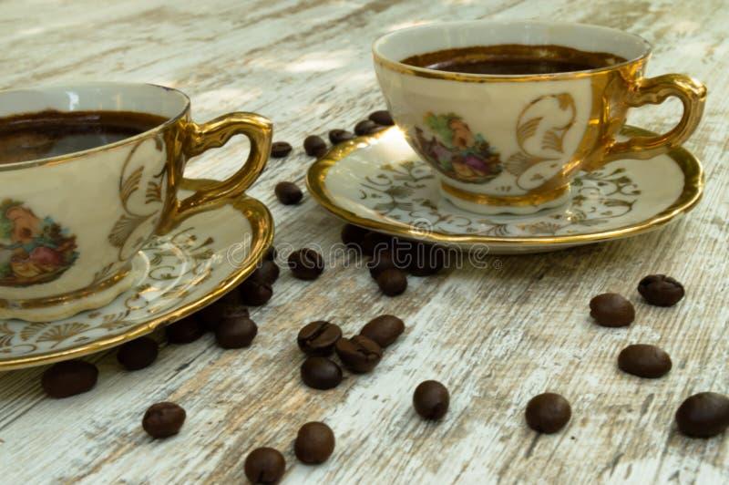 Copos de café preto 1 foto de stock