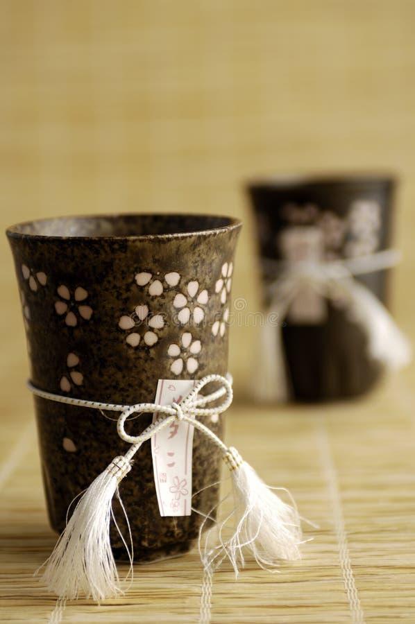 Copos de chá asiáticos fotos de stock royalty free