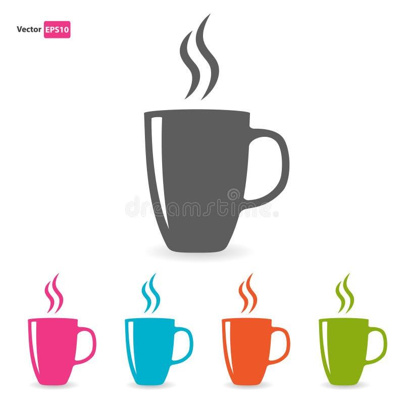 Copos de chá do aroma ajustados ilustração stock