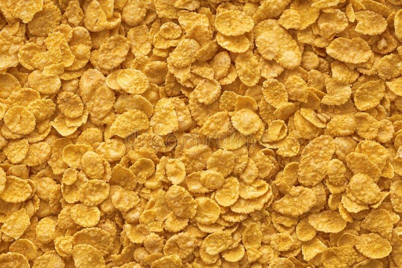 Copos de maíz fondo y textura, cereal foto de archivo