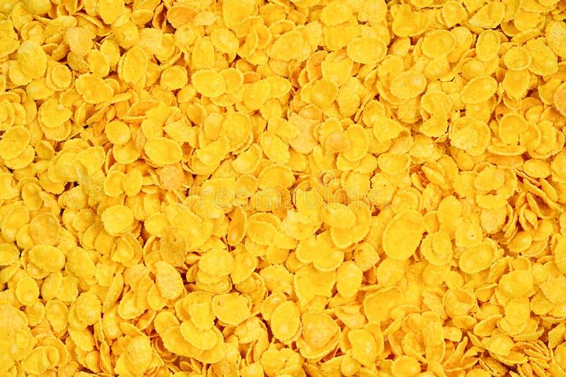 Copos de maíz fondo y textura Visión superior imagenes de archivo