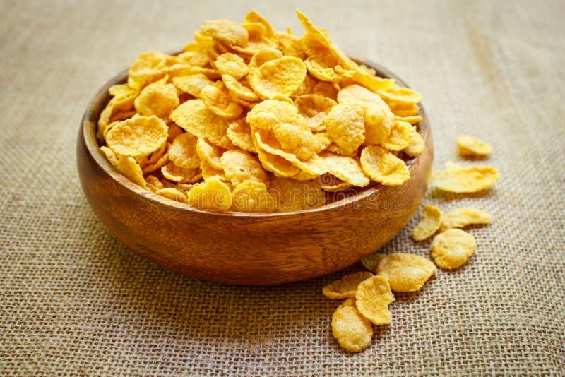 Copos de maíz frescos del cereal imagen de archivo