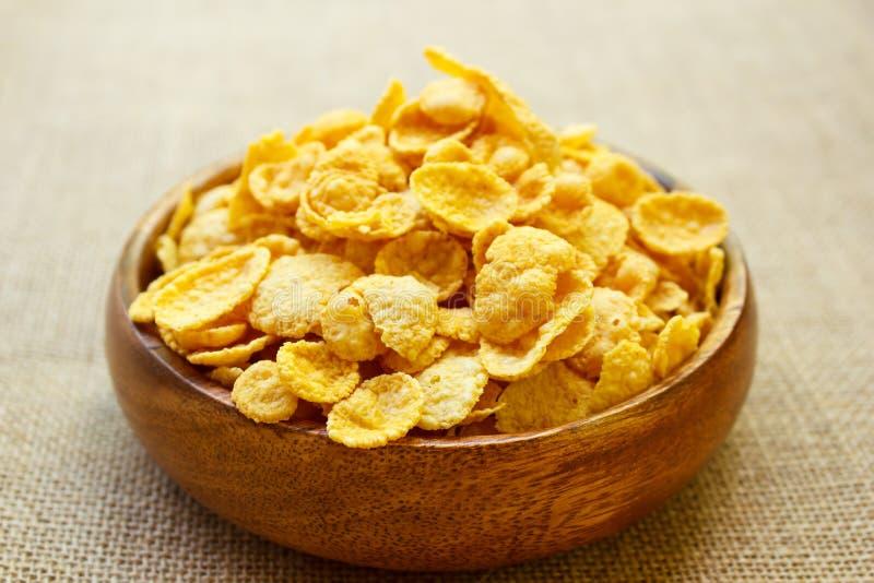 Copos de maíz frescos del cereal imágenes de archivo libres de regalías