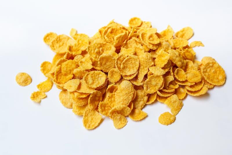 Copos de maíz frescos del cereal fotos de archivo