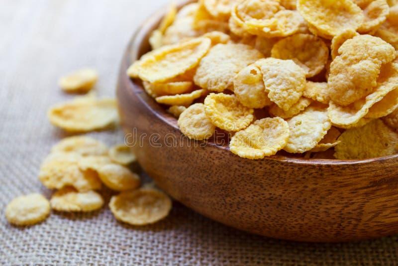 Copos de maíz frescos del cereal fotografía de archivo libre de regalías