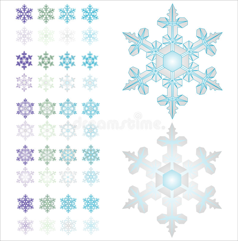 Copos de nieve. libre illustration