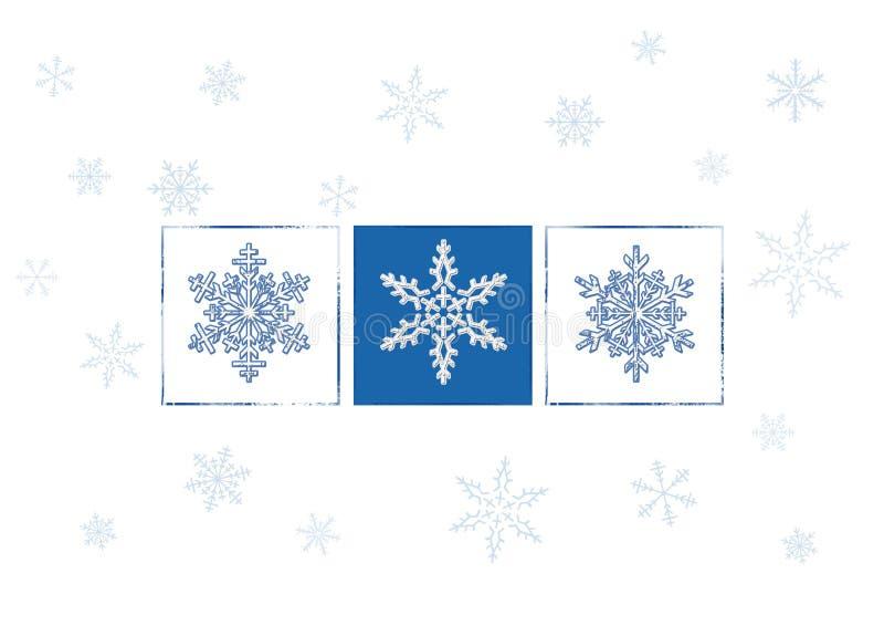 Copos de nieve ilustración del vector