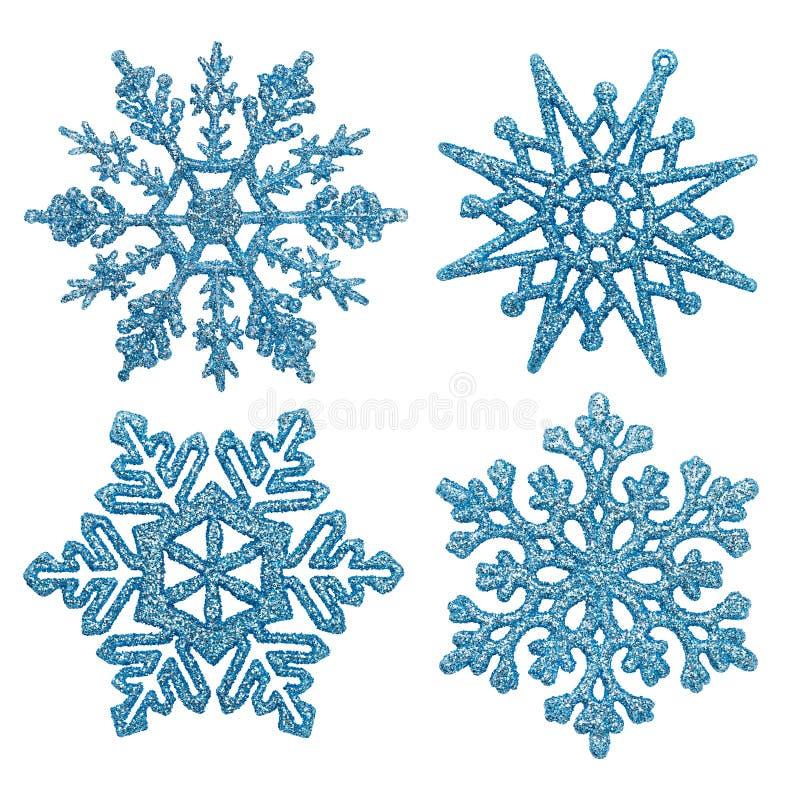 Copos de nieve azules stock de ilustración