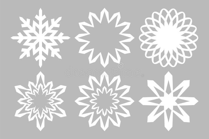 Copos de nieve blancos libre illustration