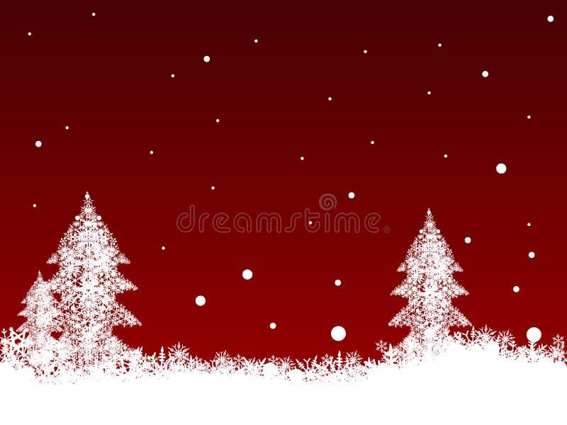 Copos de nieve blancos en rojo oscuro libre illustration