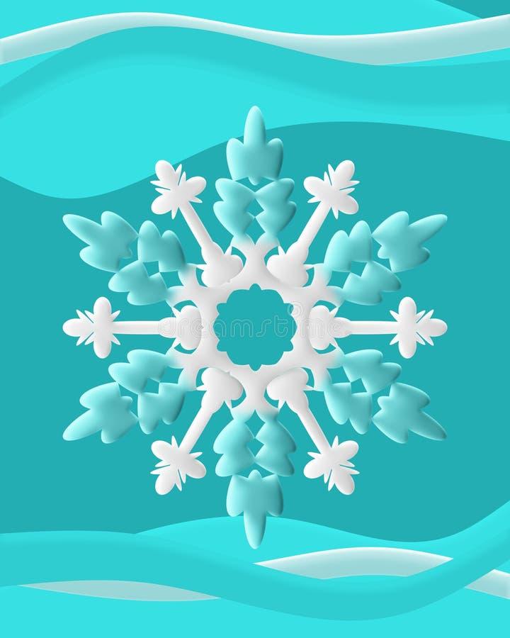 Copos de nieve con remolino foto de archivo