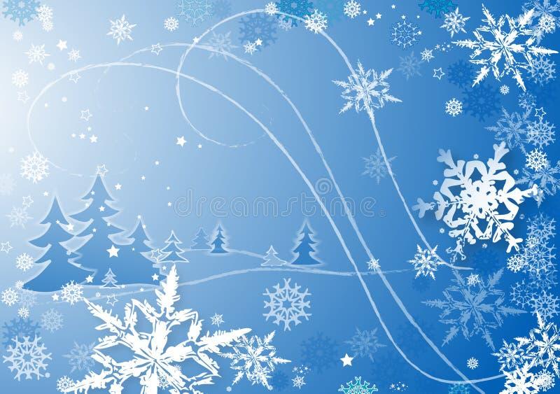 Copos de nieve dance2 stock de ilustración