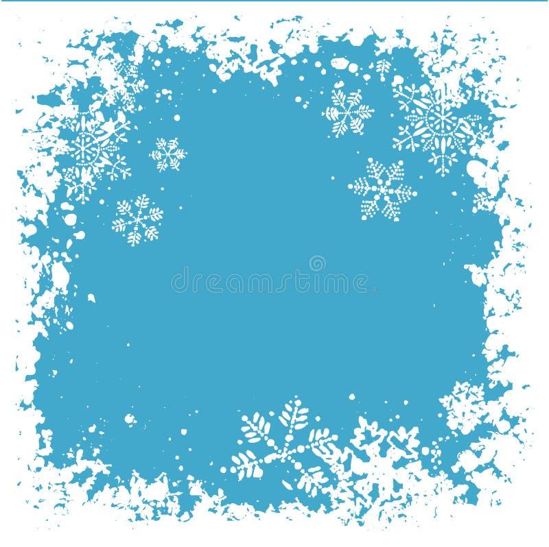 Copos de nieve de Grunge stock de ilustración