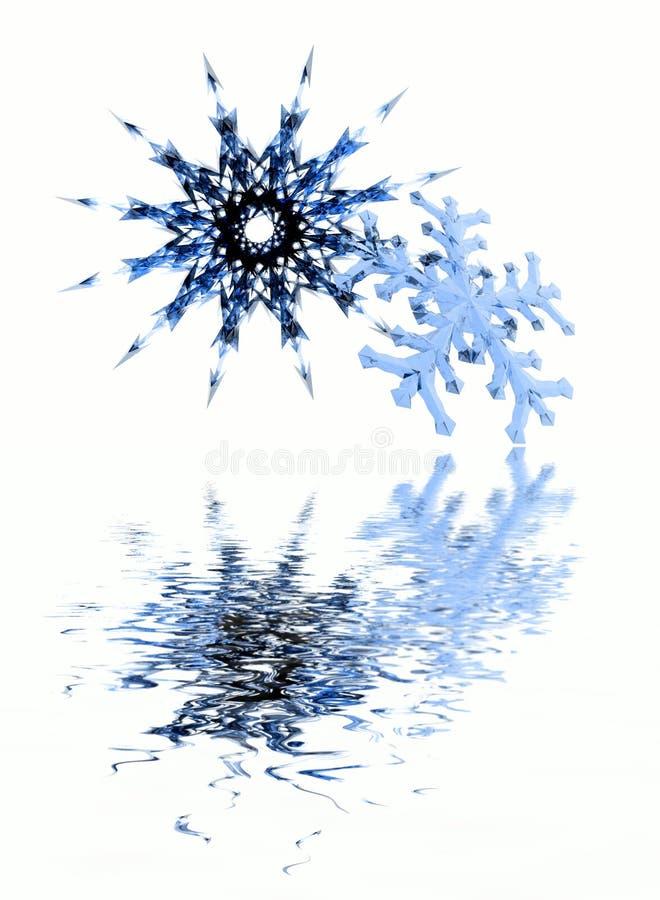 Copos de nieve de la Navidad stock de ilustración