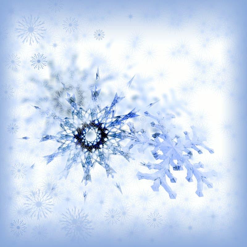 Copos de nieve de la Navidad ilustración del vector