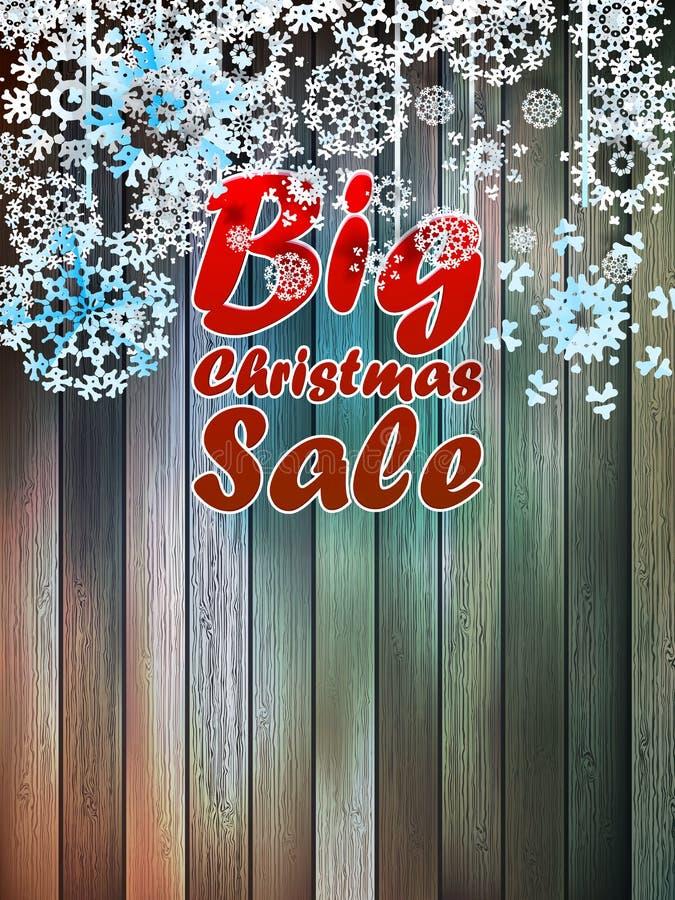 Copos de nieve de la Navidad con venta grande. libre illustration