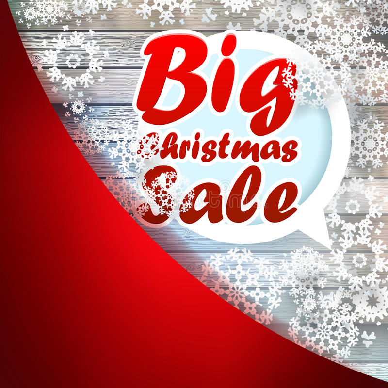 Copos de nieve de la Navidad con venta grande. + EPS10 stock de ilustración