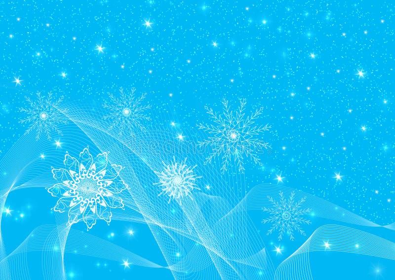 Copos de nieve de la Navidad de la abstracción libre illustration