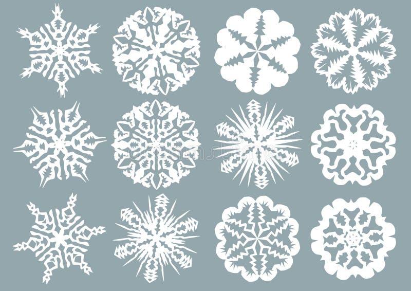 Copos de nieve de papel libre illustration