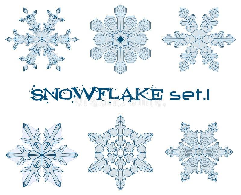 Copos de nieve del invierno stock de ilustración