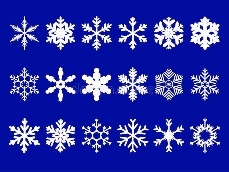 Copos de nieve del vector fijados libre illustration
