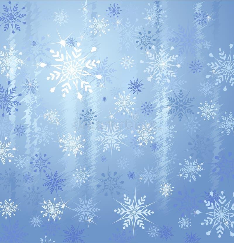 Copos de nieve e hielo ilustración del vector